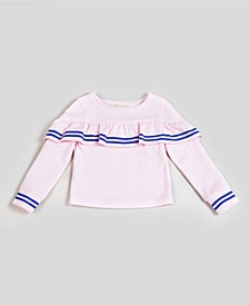 Big & Toddler Girls Ruffle Tier Top