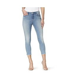 High Rise Skinny Crop Jeans with Baby Hem