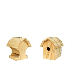 2 Pack Combo Diy Kit Bird Feeder, Bird House