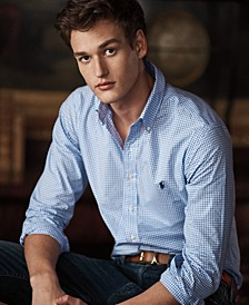 Men's Slim Fit Check Poplin Stretch Shirt