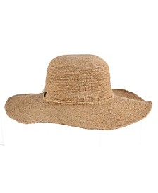 Raffia and Lurex Floppy Hat