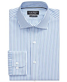 Polo Ralph Lauren Men's Slim-Fit No-Iron Striped Dress Shirt