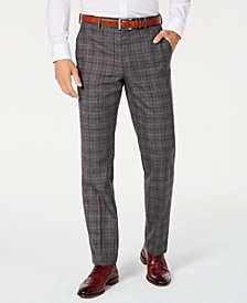 Lauren Ralph Lauren Men's Classic-Fit UltraFlex Stretch Dark Gray Windowpane Suit Pants