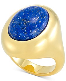 Lapis Lazuli Statement Ring in 14k Gold Over Resin, Created for Macy's