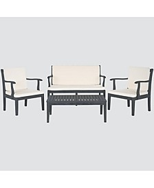 Aimie Outdoor 4-Pc. Seating Set (1 Loveseat, 2 Chairs & 1 Coffee Table)
