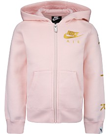 Nike Little Girls Metallic-Logo Zip-Up Hoodie