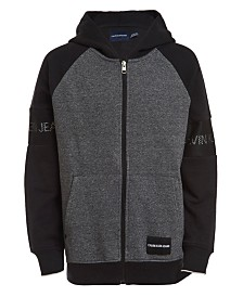 Calvin Klein Jeans Big Boys Varsity Colorblocked Fleece Hoodie