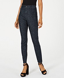 Juniors' Nikki Printed Denim Jeggings