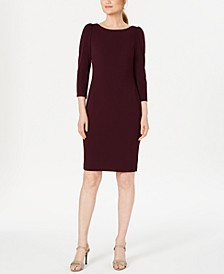 Puff-Sleeve Sheath Dress