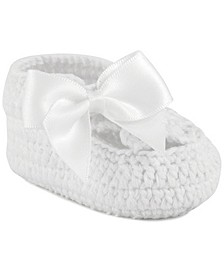 Crochet Bootie with Satin Bow