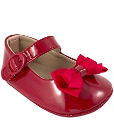 Baby Girl Patent Skimmer with Fancy Bow
