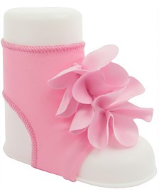 Baby Deer Baby Girl Peep Toe Sock with Flower Overlays