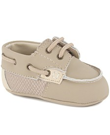 Baby Deer Baby Boy Nubuc Deck Shoe with Mesh Accents