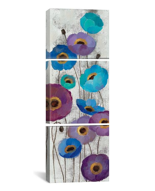 "iCanvas Bold Anemones Panel Ii by Silvia Vassileva Gallery-Wrapped Canvas Print - 36"" x 12"" x 1.5"""