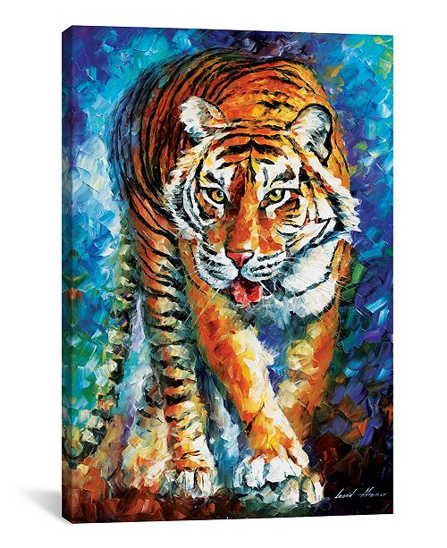 "iCanvas Scary Tiger by Leonid Afremov Gallery-Wrapped Canvas Print - 26"" x 18"" x 0.75"""