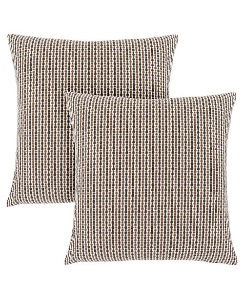 "Monarch Specialties 18"" x 18"" Abstract Dot Pillow, Set Of 2"