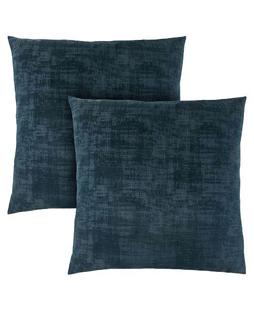 """Monarch Specialties 18"""" x 18"""" Brushed Velvet Pillow, Set Of 2"""