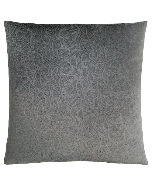 "Monarch Specialties 18"" x 18"" Floral Velvet Pillow"