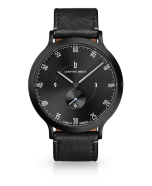 L1 All Black Leather Watch 42mm