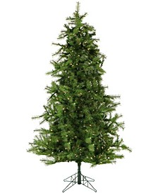 6.5'. Colorado Pine Artificial Christmas Tree With Clear LED String Lighting