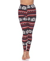 e05d8e8c19f385 White Mark Women's One Size Fits Most Printed Leggings