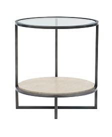 Bernhardt Harlow Metal Round Chairside Table