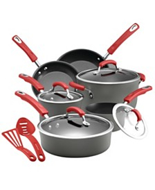 Rachael Ray Hard-Anodized Nonstick 12-Pc. Cookware Set