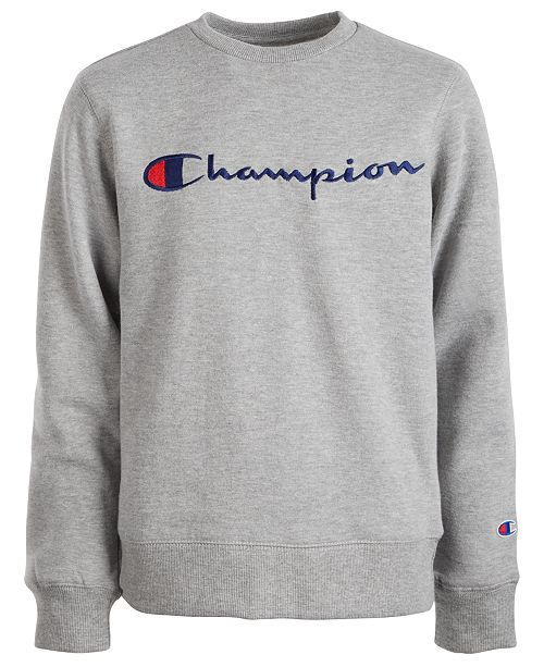 Champion Big Boys Logo-Print Sweatshirt