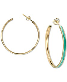 Enamel Hoop Earrings in 18k Gold-Plated Sterling Silver