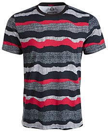 Men's Wavy Stripe Textured T-Shirt, Created for Macy's