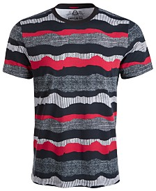 American Rag Men's Wavy Stripe Textured T-Shirt, Created for Macy's