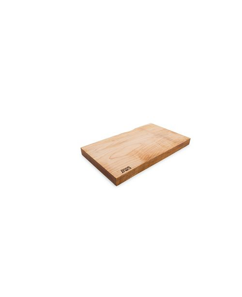 "John Boos Rustic Maple Wood 21"" x 12"" Reversible Edge Grain Cutting Board"