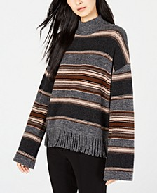 Amico Striped Fringe-Trim Sweater