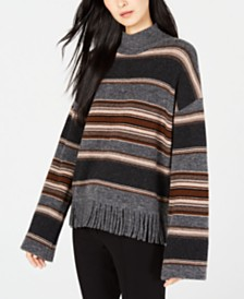 Weekend Max Mara Amico Striped Fringe-Trim Sweater