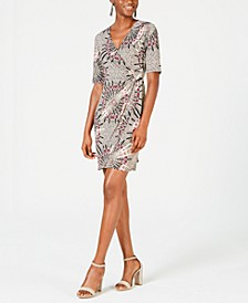 Petite Medallion-Print Wrap Dress