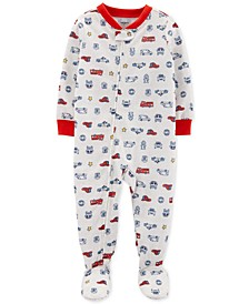 Toddler Boys 1-Pc. Rescue-Print Footed Pajamas