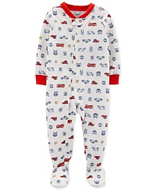 Carter's Toddler Boys 1-Pc. Rescue-Print Footed Pajamas