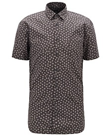 BOSS Men's Slim-Fit Mini-Scorpion Print Shirt