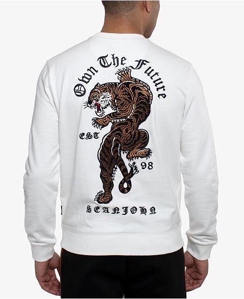 Sean John Men's Embroidered Tiger Sweatshirt
