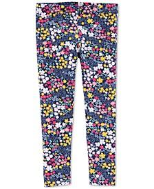 Toddler Girls Floral-Print Leggings