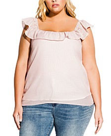 Trendy Plus Size Ruffled Top