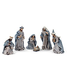 Napco Vintage Blue Nativity - Set of 6