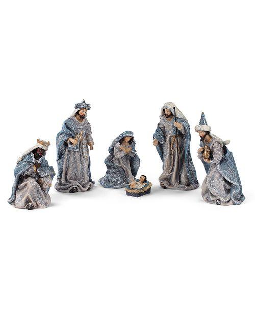 Napco Vintage Blue Nativity - Set of 6