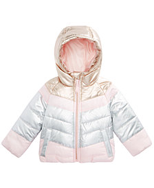 S Rothschild & CO Baby Girls Hooded Colorblocked Puffer Jacket