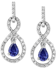 Giani Bernini Cubic Zirconia Infinity Drop Earrings in Sterling Silver, Created for Macy's