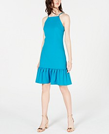 Ruffled Drop-Waist Dress