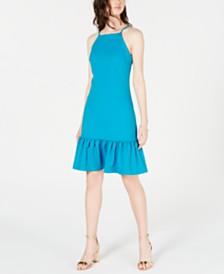 Trina Trina Turk Ruffled Drop-Waist Dress
