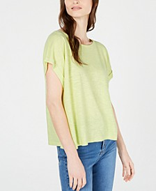Ballet-Neck Short-Sleeve Organic Top, Regular & Petite