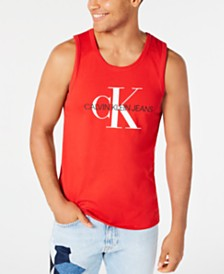 Calvin Klein Jeans Men's Monogram Logo Graphic Tank