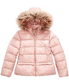 Michael Michael Kors Little Girls Faux-Fur-Trim Hooded Puffer Jacket